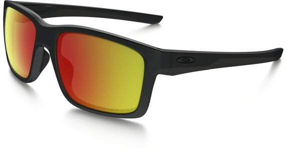 Oakley Mainlink Matte Black w/ Ruby Iridium Polarized